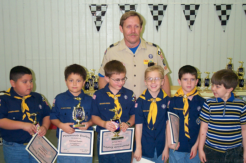 My son, (second from left) with the first of many derby trophies.